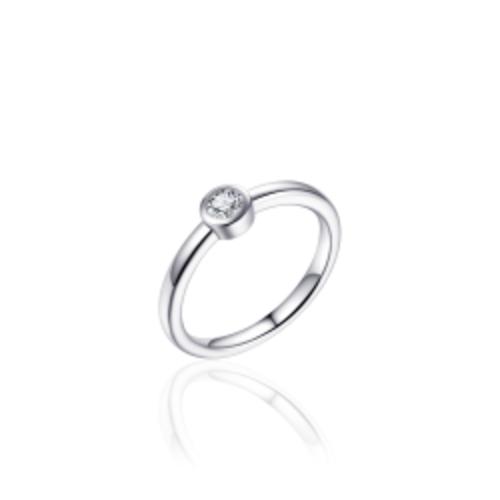 Zilveren Ring | R372 | mt 54