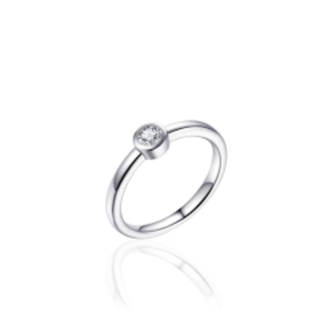 Huiscollectie Zilveren Ring   R372   mt 54