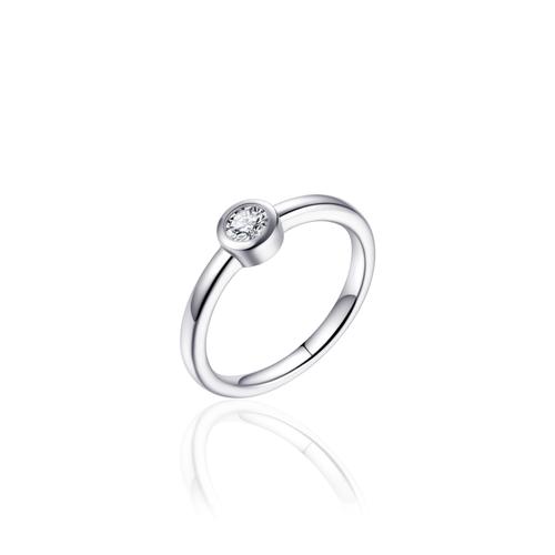 Zilveren Ring met Zirconia | R373 | mt 56