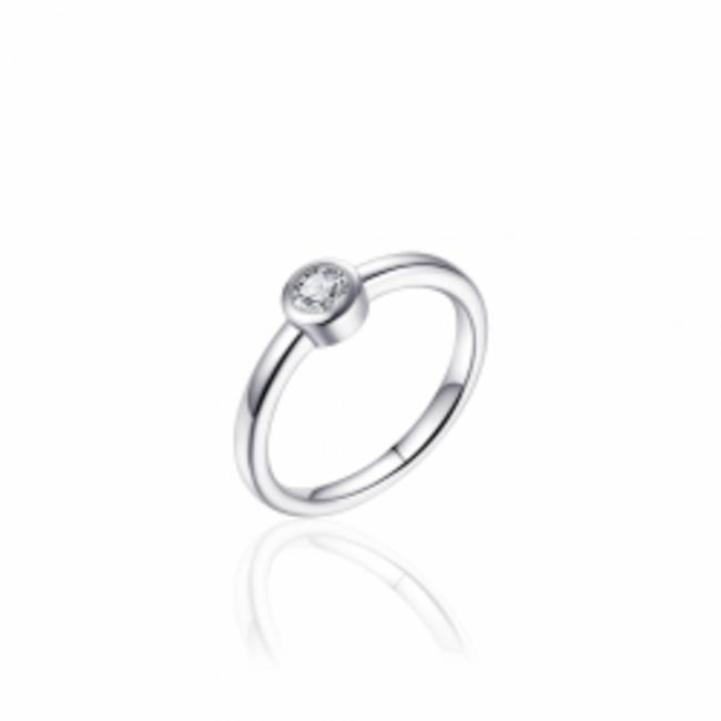 Huiscollectie Zilveren Ring met Zirconia   R374   mt 54