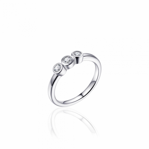 Zilveren Ring met Zirconia | R375 | mt 56