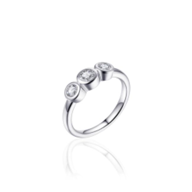 Huiscollectie Zilveren Ring   R378   mt 56