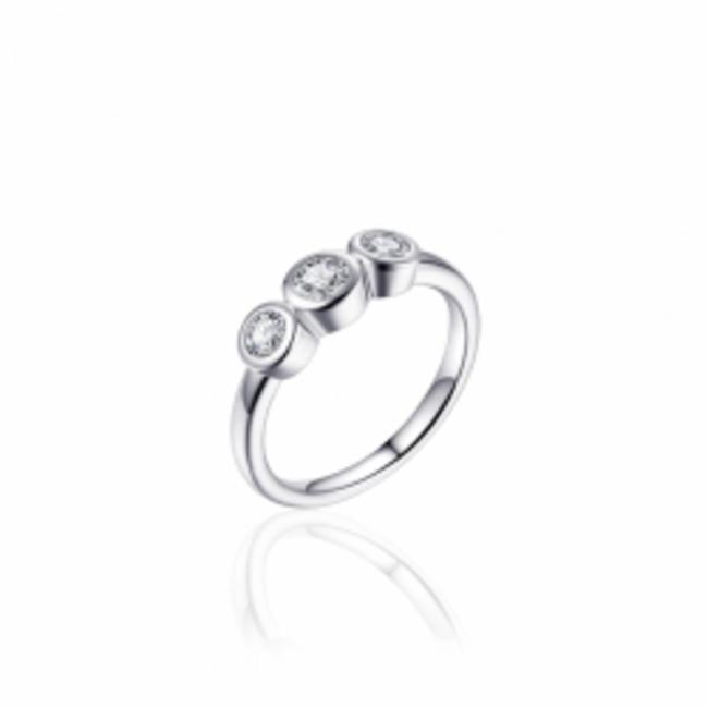 Huiscollectie Zilveren Ring met Zirconia   R379   mt 54