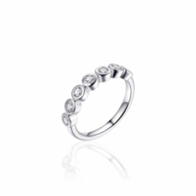 Huiscollectie Zilveren Ring met Zirconia's   R380   mt 54