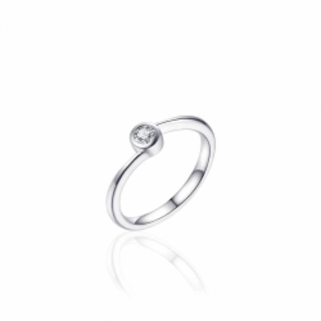 Huiscollectie Zilveren Ring met Zirconia   R382   mt 56