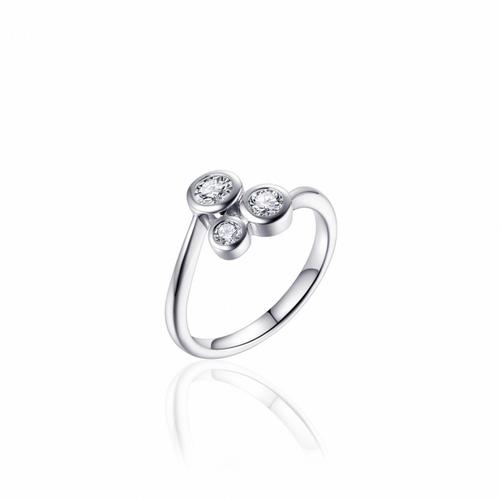 Zilveren Ring met Zirconia | R383 | mt 54
