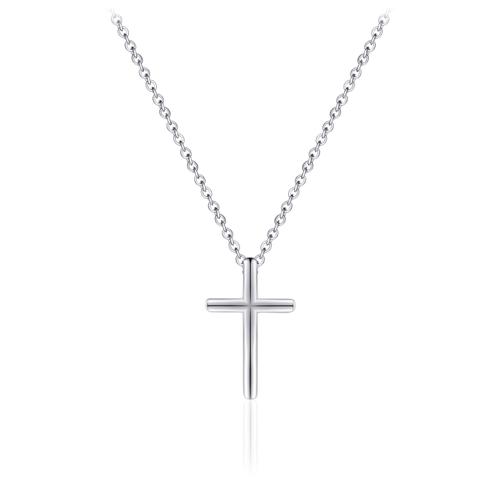 Zilveren Collier met Kruis | N1009