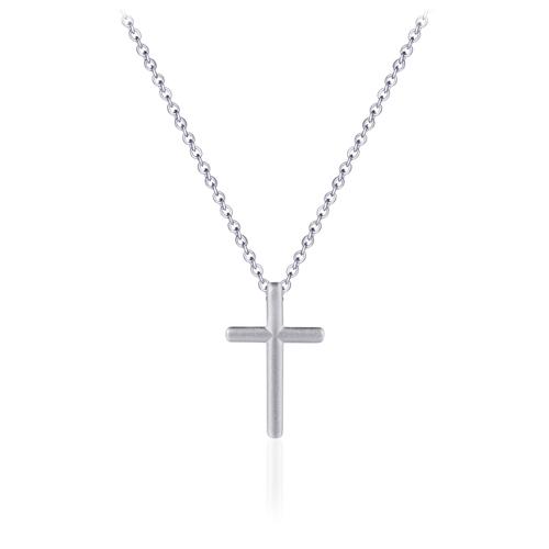 Zilveren Collier met Kruis | N1010