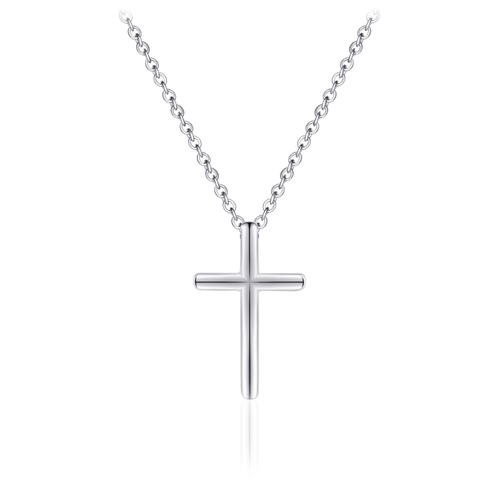 Zilveren Collier met Kruis   N1011