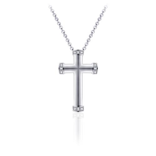 Zilveren Collier met Kruis | N1017
