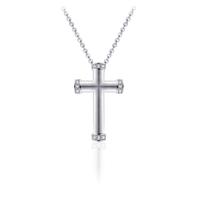 Huiscollectie Zilveren Collier met Kruis | N1017