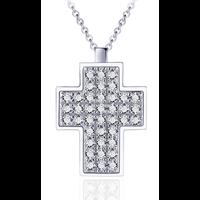 Zilveren Ketting Zirkonia Kruis