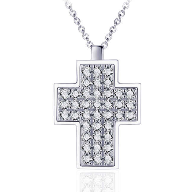 Huiscollectie Zilveren Collier Zirconia Kruis | N1023