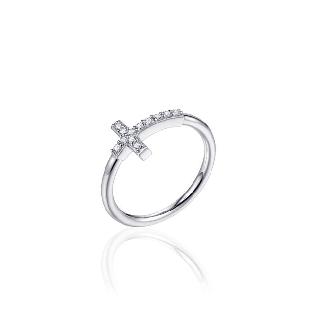 Huiscollectie Zilveren Ring Kruis met Zirconia| R387 | mt 54