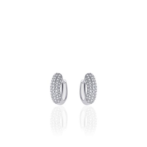 Huiscollectie Zilveren Creolen met Zirconia E701W2