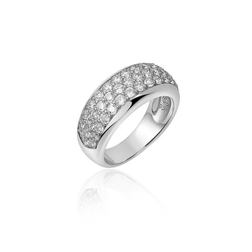 Zilveren Ring met Zirconia | R265 | mt 56