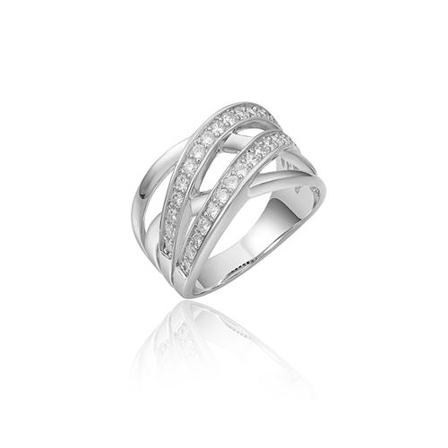 Huiscollectie Zilveren Ring met Zirconia R315W mt 56