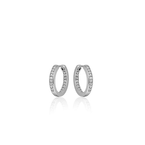 Zilveren Creolen met Zirconia | KCE3/20