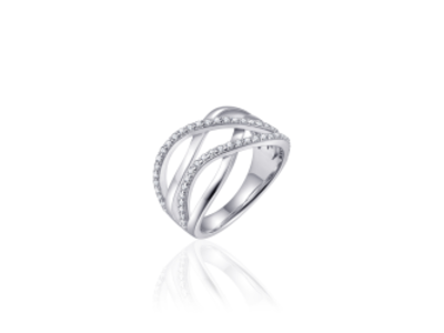 Zilveren Ring   mt 56 r351