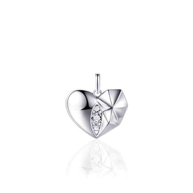 Huiscollectie Zilveren hanger Hart | P1035