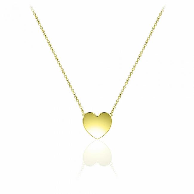 Huiscollectie Zilver geel goud verguld collier Hart | N1030Y