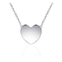 Zilveren Ketting Hart