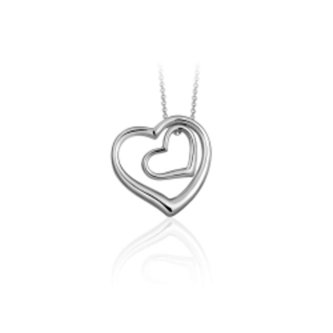 Huiscollectie Zilveren collier Hart | N1004
