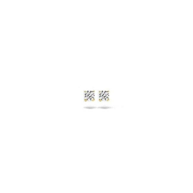 Blush Blush Oorbellen 7128YZI - Geel Goud (14Krt.) met Zirconia