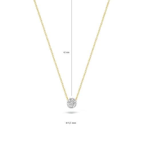 Blush Blush Collier 3077BZI - Geel en Wit Goud (14Krt.) met Zirkonia