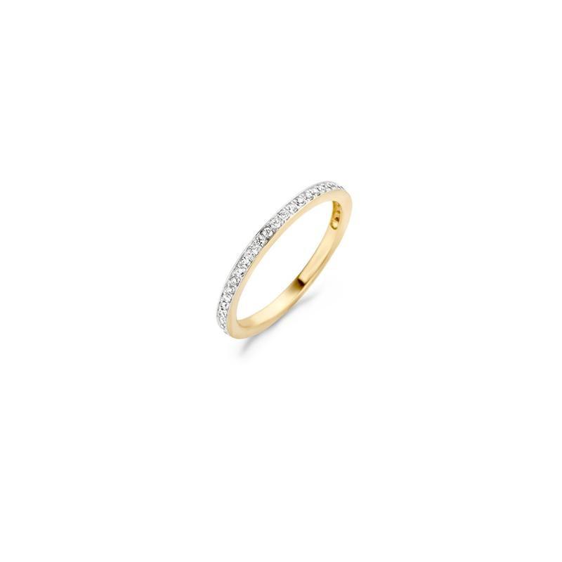 Blush Ring 1119BZI -  Geel en Wit Goud (14Krt.) met Zirconia