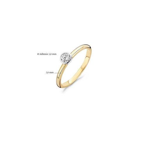 Blush Blush Ring 1124BZI - Geel en Wit Goud (14Krt.) met Zirconia