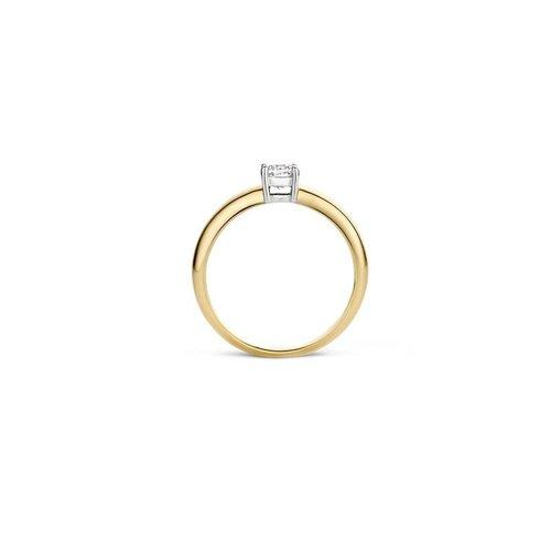 Blush Blush Ring 1129BZI - Geel en Wit Goud (14Krt.) met Zirconia
