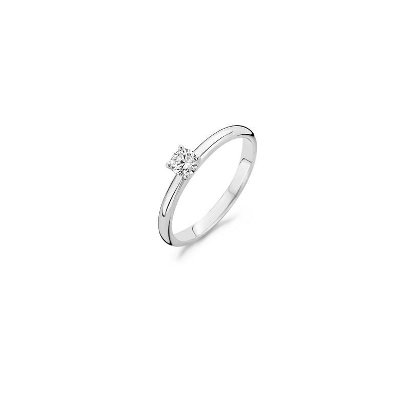 Blush Ring 1132WZI - Wit Goud (14Krt.) met Zirconia