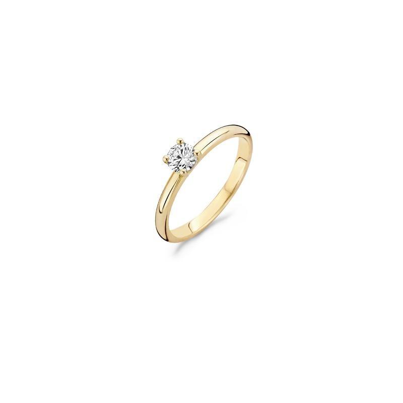 Blush Ring 1133YZI - Geel Goud (14Krt.) met Zirconia