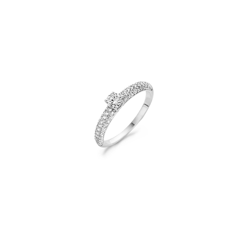 Blush Ring 1146WZI - Wit Goud (14Krt.) met Zirconia
