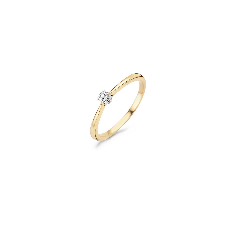 Blush Ring 1186BZI - Geel en Wit Goud (14Krt.) met Zirkonia