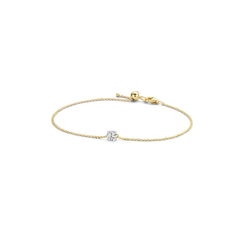 Blush Armband 2166BZI - Geel en wit goud (14Krt.) met Zirconia
