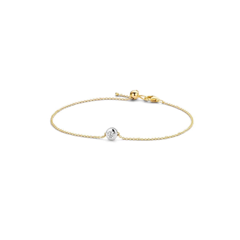 Blush Armband 2167BZI - Geel en Wit Goud (14Krt.) met Zirconia