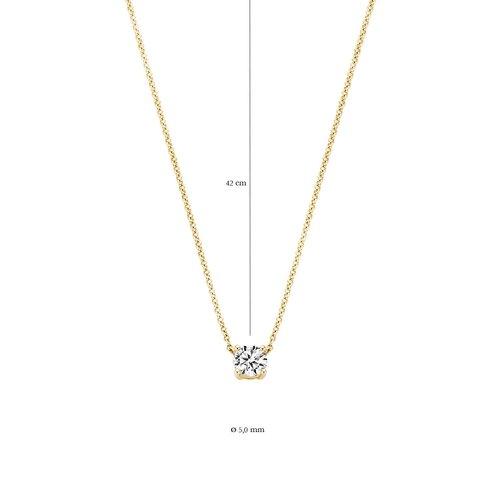 Blush Blush Ketting 3049YZI - Geel Goud (14Krt.) met Zirconia