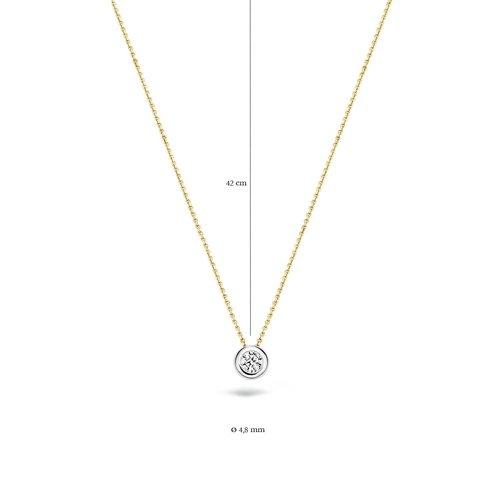 Blush Blush Ketting 3052BZI - Geel en Wit Goud (14Krt.) met Zirconia