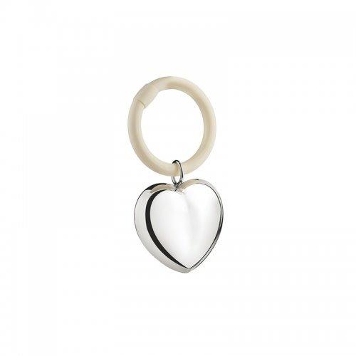 Zilverstad Rammelaar hart aan ring A7366820