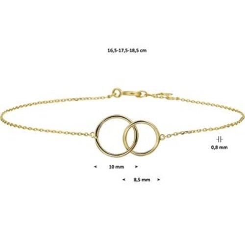 Huiscollectie 14krt Geelgouden Armband 18,5cm