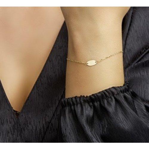Huiscollectie 14krt Geelgouden Armband 19cm