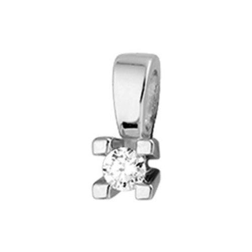 14krt Witgouden Hanger Diamant