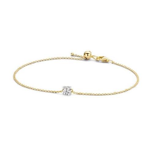 Blush Blush Armband 2166BZI - Geel en wit goud (14Krt.) met Zirconia