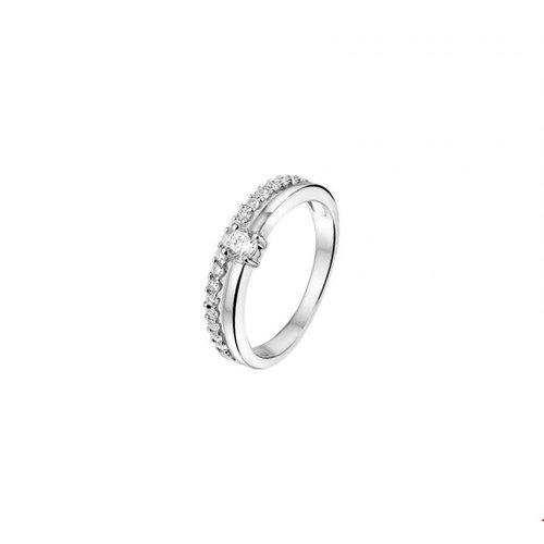 Huiscollectie vDam Zilveren Ring met Zirkonia