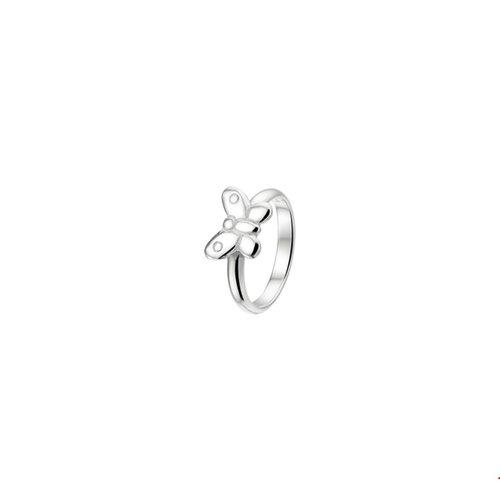 Huiscollectie vDam Zilveren Ring Vlinder