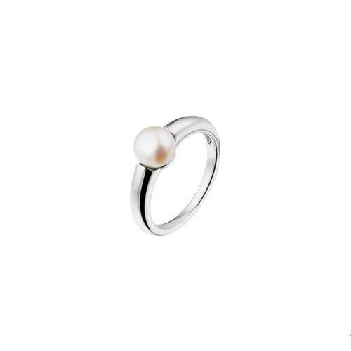 Huiscollectie vDam Zilveren Ring met Parel
