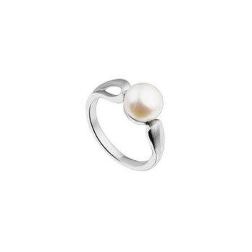Huiscollectie vDam Zilveren Ring met Parel 17.75