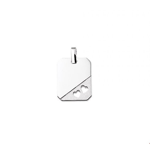 Huiscollectie vDam Zilveren Hanger Hartjes